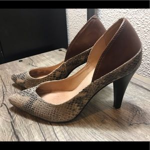 Corso Como Snakeskin and Leather Heels
